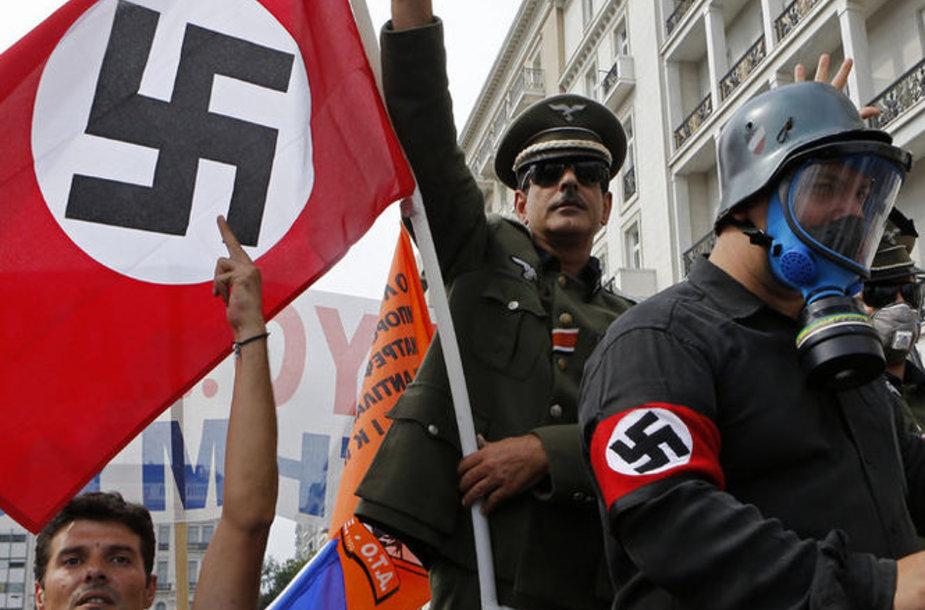 Демонстрация в Афинах.