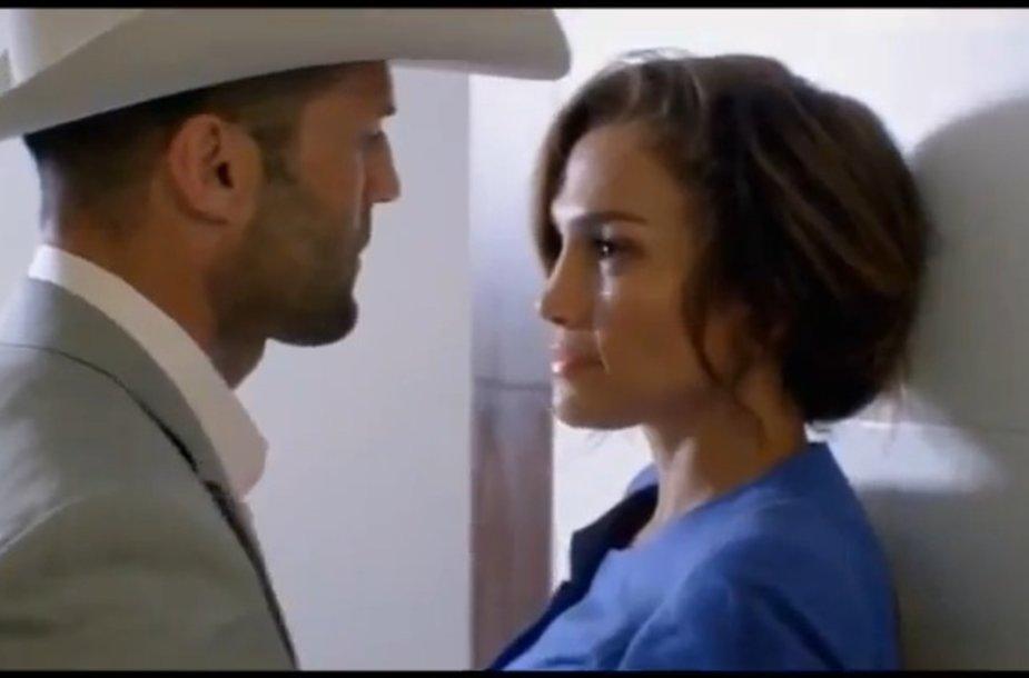 Jennifer Lopez ir Jasonas Stathamas