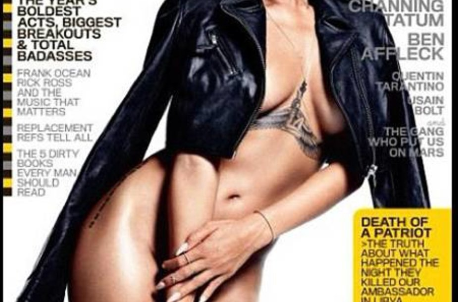 """Rihanna ant žurnalo """"GQ"""" viršelio"""