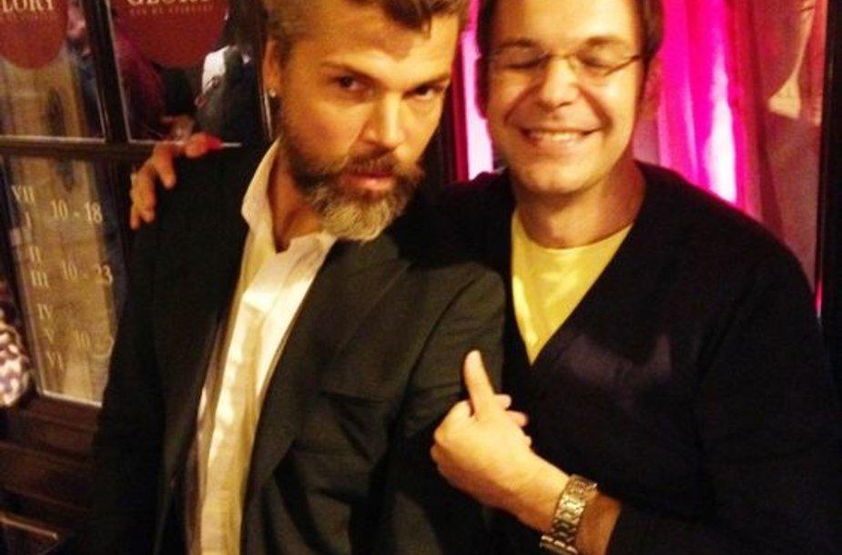 Juoas Statkevičius ir Aras Vėberis