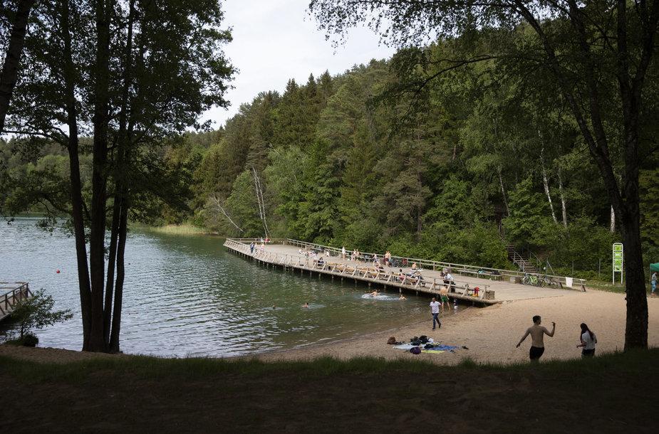 Atnaujintas Žaliųjų ežerų paplūdimys