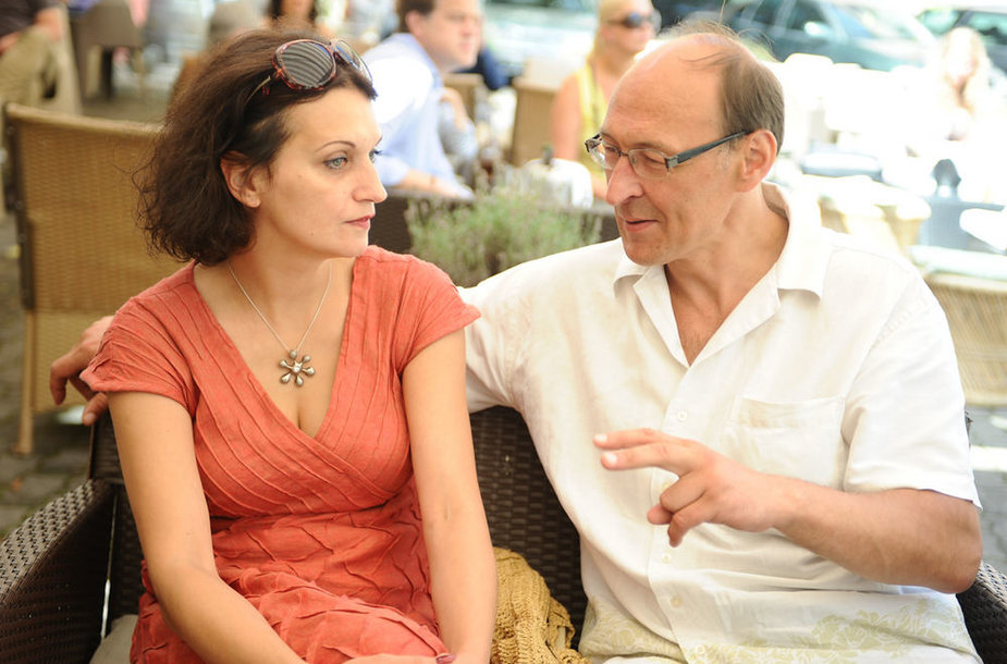 Vaidotas Martinaitis su žmona Živile Ručyte