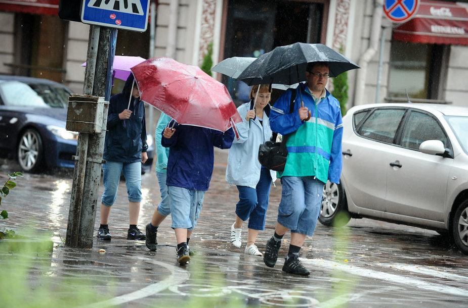 Lietinga diena Vilniuje