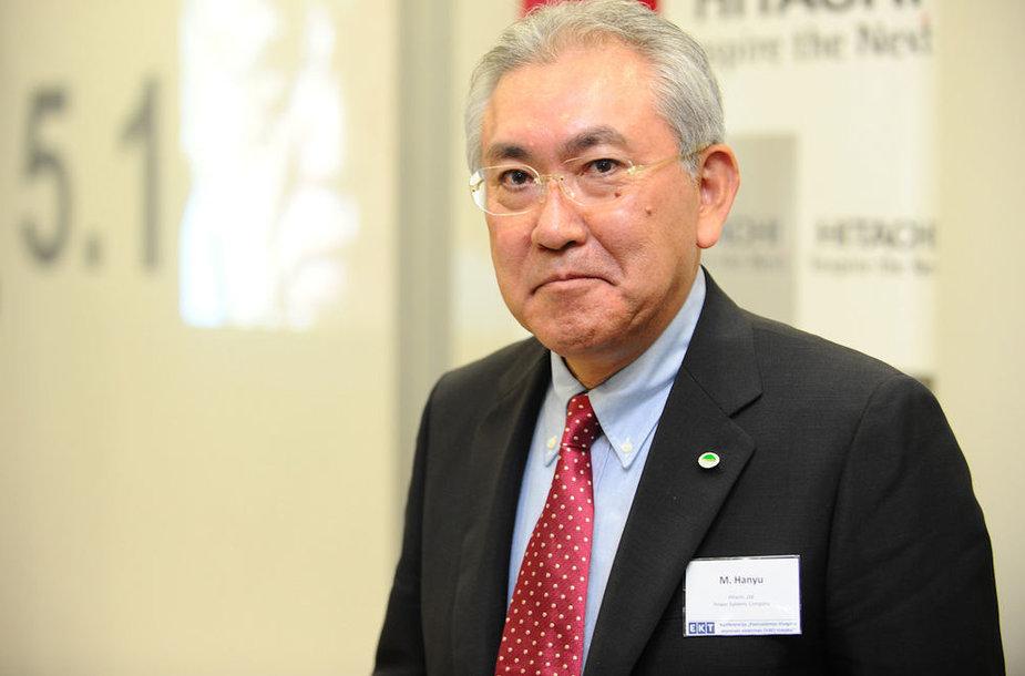 """""""Hitachi"""" viceprezidentas Masaharu Hanyu"""
