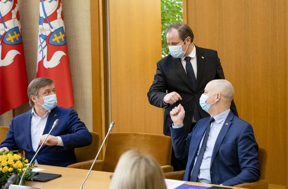 Ramūnas Karbauskis, Aurelijus Veryga, Giedrius Surplys
