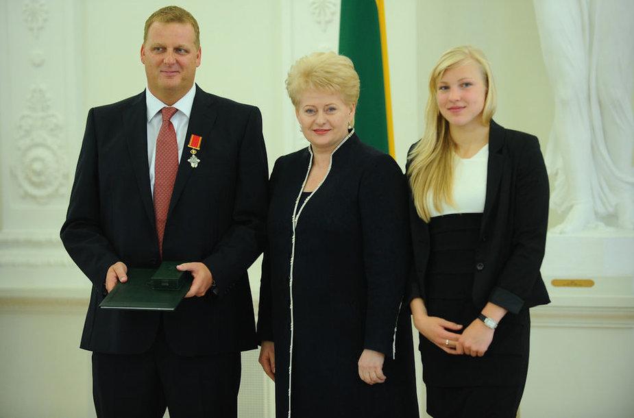 Lietuvos sportininkams - apdovanojimai iš prezidentės Dalios Grybauskaitės rankų