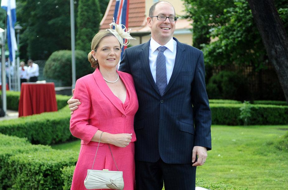 Davidas Huntas su žmona Sarah