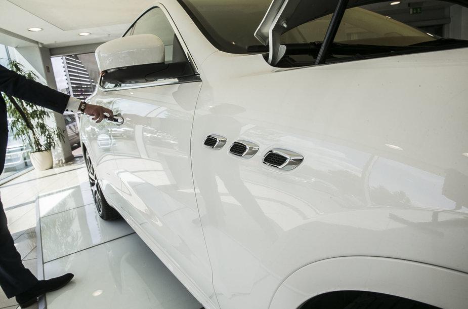 Maserati Levante pristaymo akimirka
