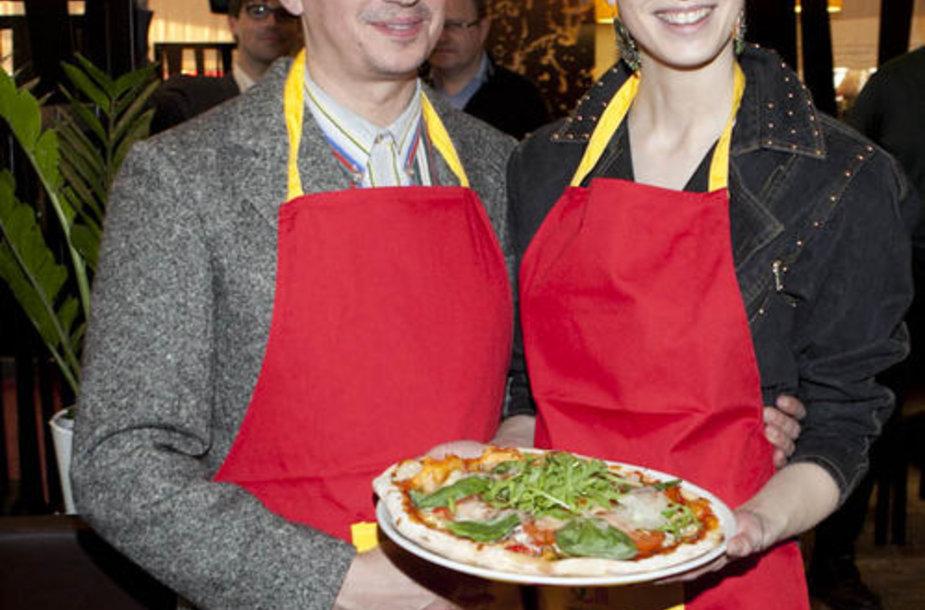 Aleksandras Pogrebnojus ir Monika Račiūnaite