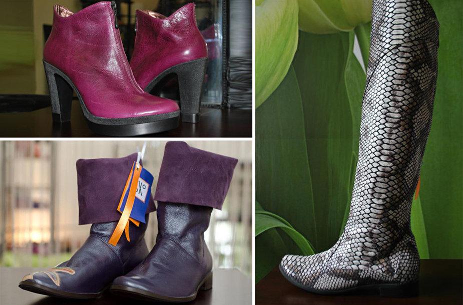 Dizainerės kurti batai