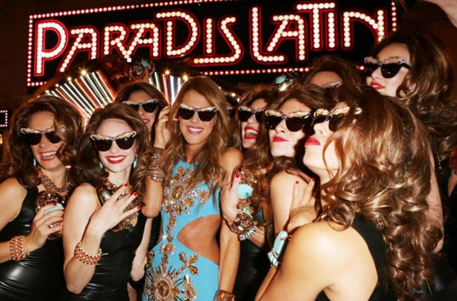 """""""Anna Dello Russo"""" aksesuarų kolekcijos, kurtos specialiai H&M, vakarėlis Paryžiuje."""