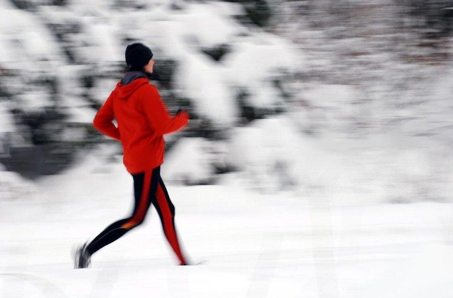 Bėgiojant žiemą