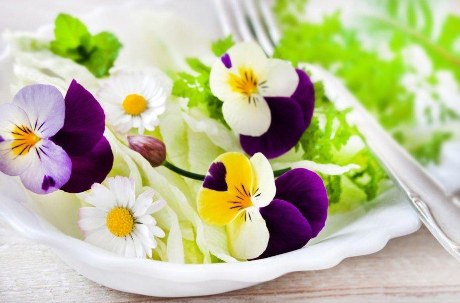Gėlės lėkštėje. Ne tik gražu, bet ir valgoma!