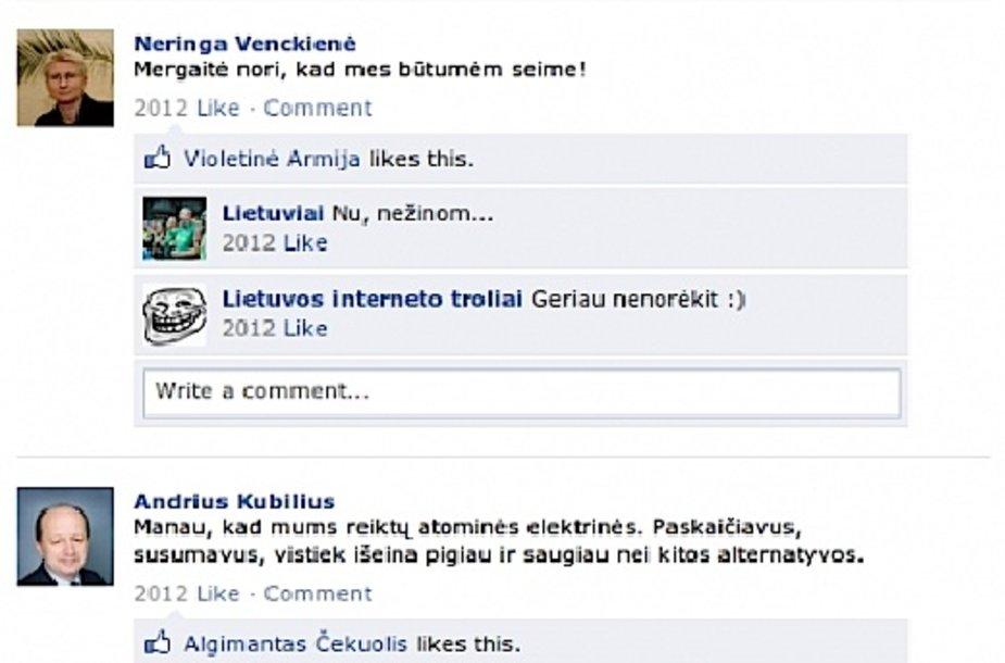 """Šmaikšti Lietuvos istorija """"Facebook"""""""