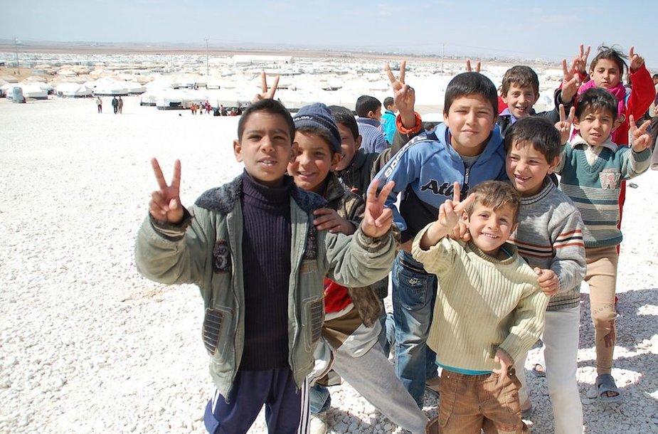 Sirijos pabėgėlių vaikai