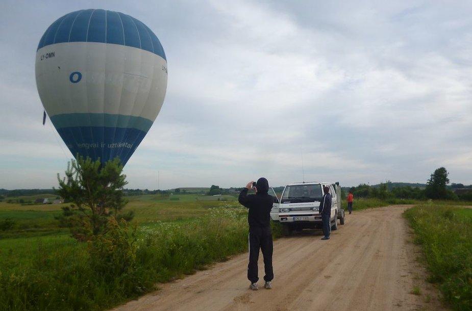 Roko Kostiuškevičiaus pilotuojamas balionas