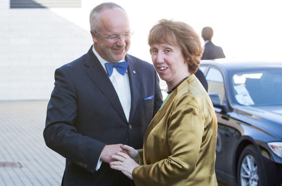 Juozas Olekas ir Cathy Ashton