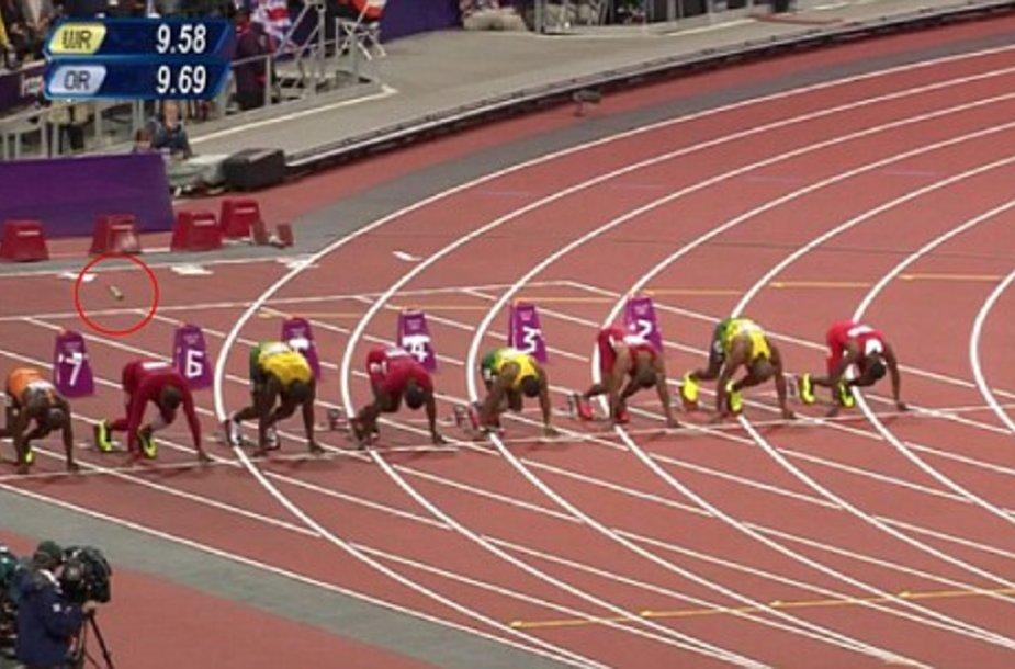 100 metrų finalo startas