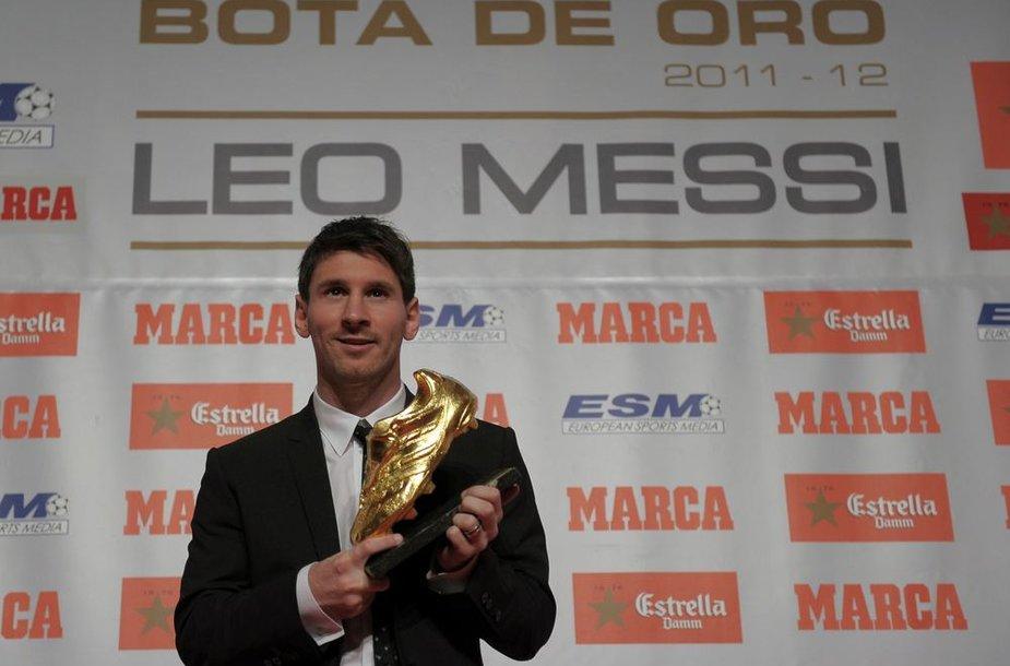 Lionelis Messi pelnė auksinį batelį