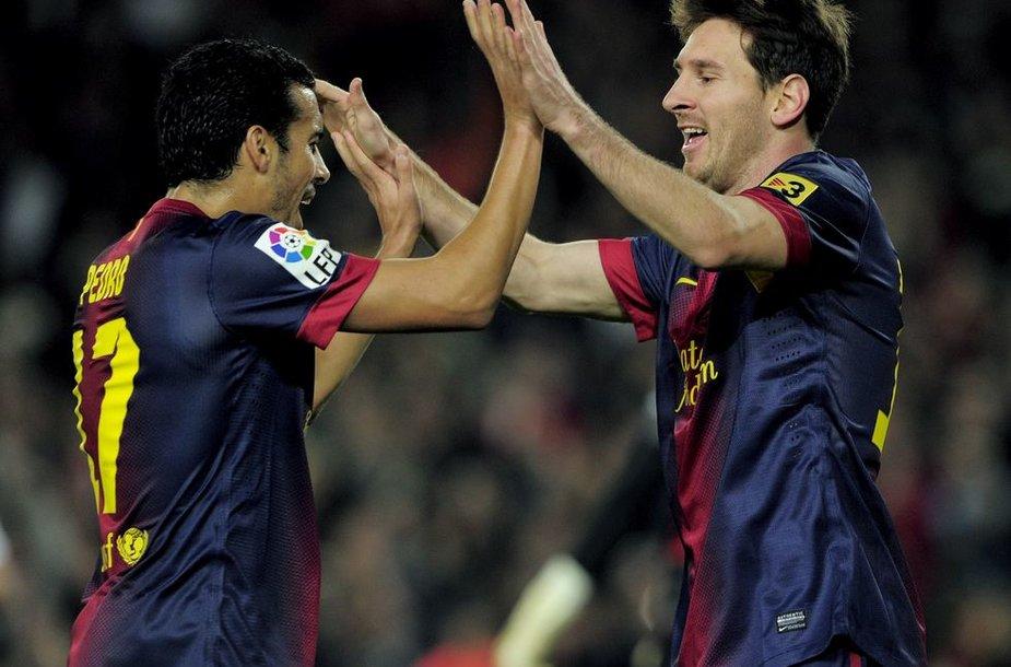 Pedro Rodriguezas ir Lionelis Messi