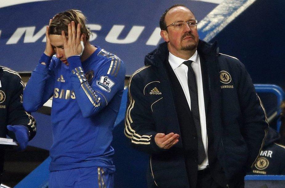Fernando Torresas ir Rafa Benitezas