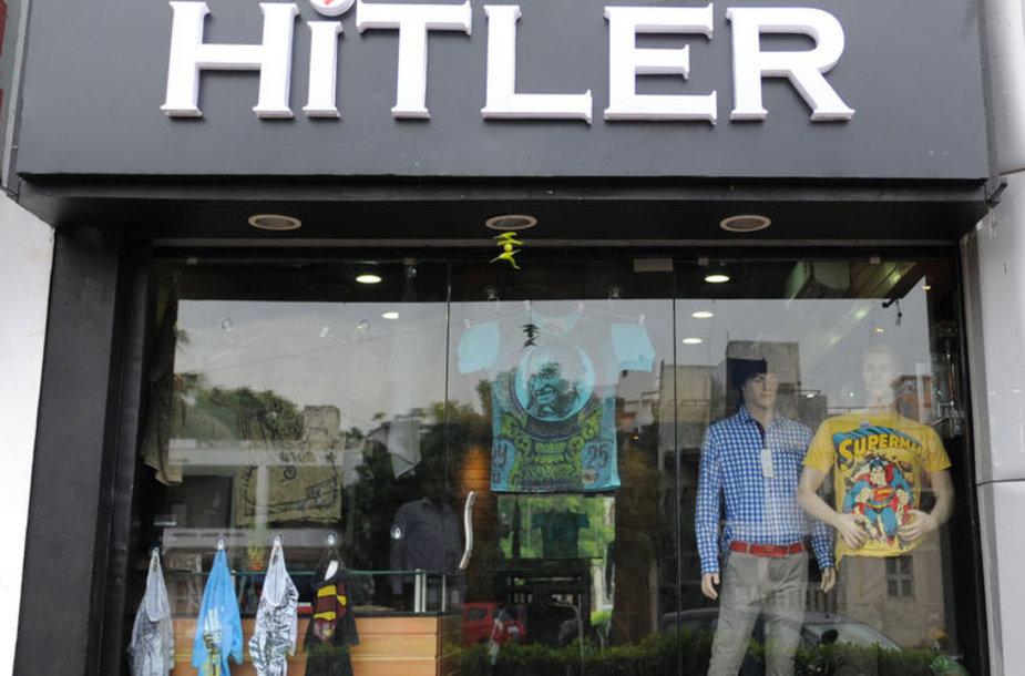 """Indijoje atidaryta drabužių parduotuvė """"Hitler"""""""