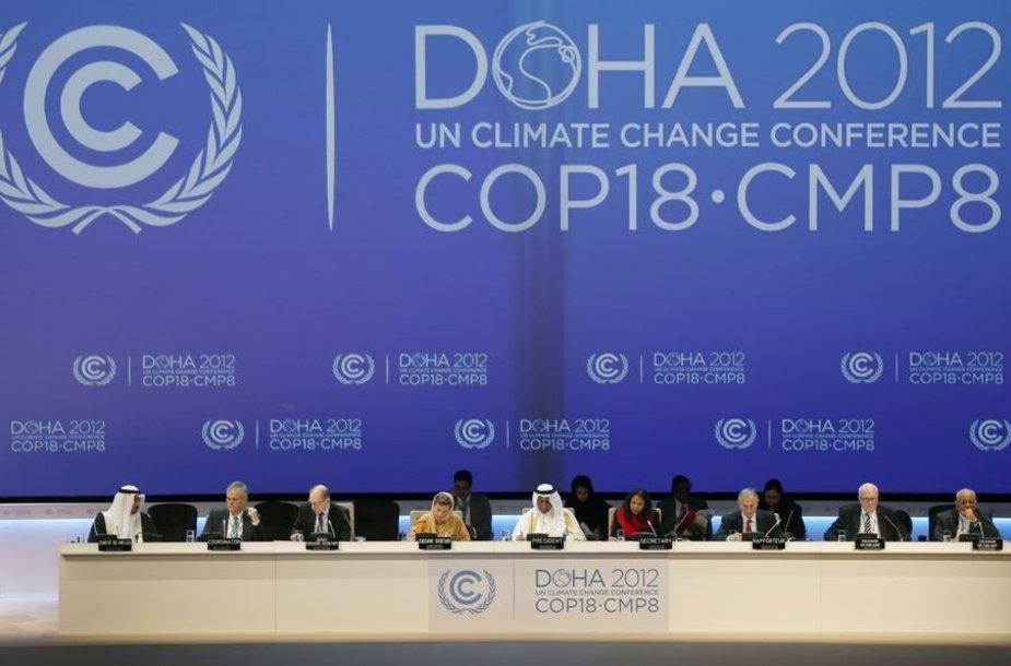 Dohoje prasideda JT derybos dėl klimato pokyčių