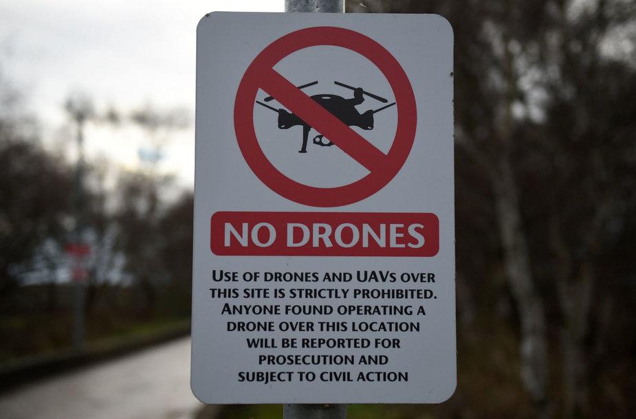 Draudimas skraidinti dronus prie oro uosto
