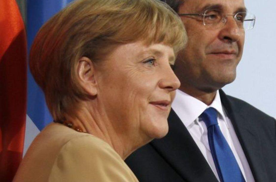 Angela Merkel ir Antonis Samaras