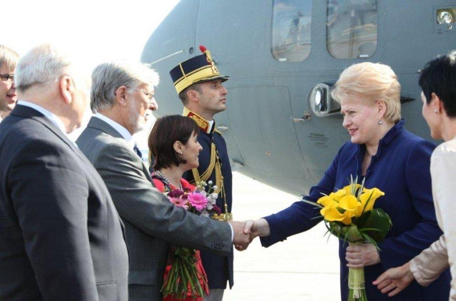 Dalia Grybauskaitė Rumunijoje