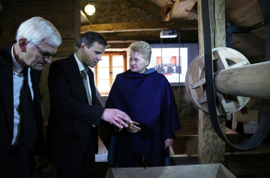 Dalia Grybauskaitė Liubavo dvaro malūne