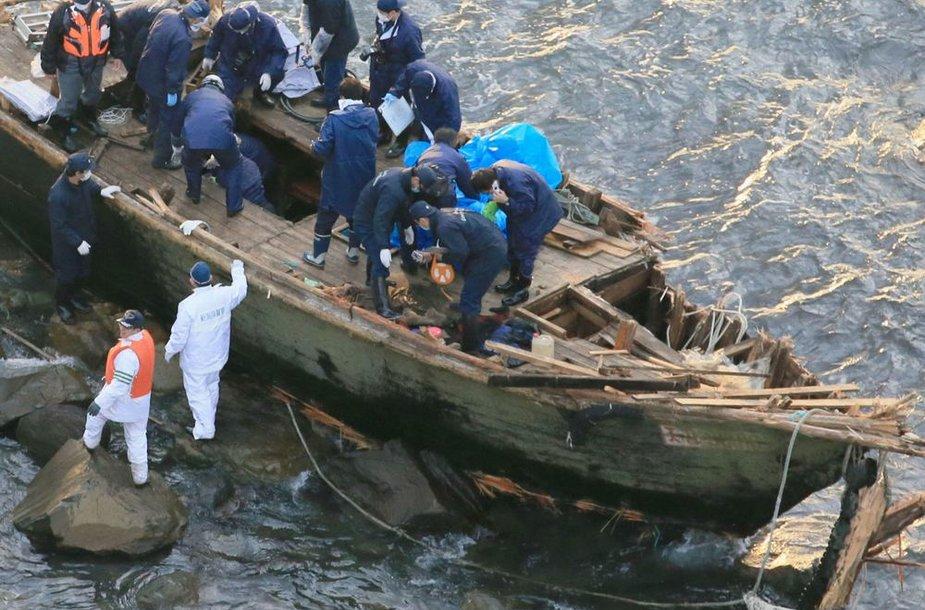 Prie Japonijos krantų rasta valtis