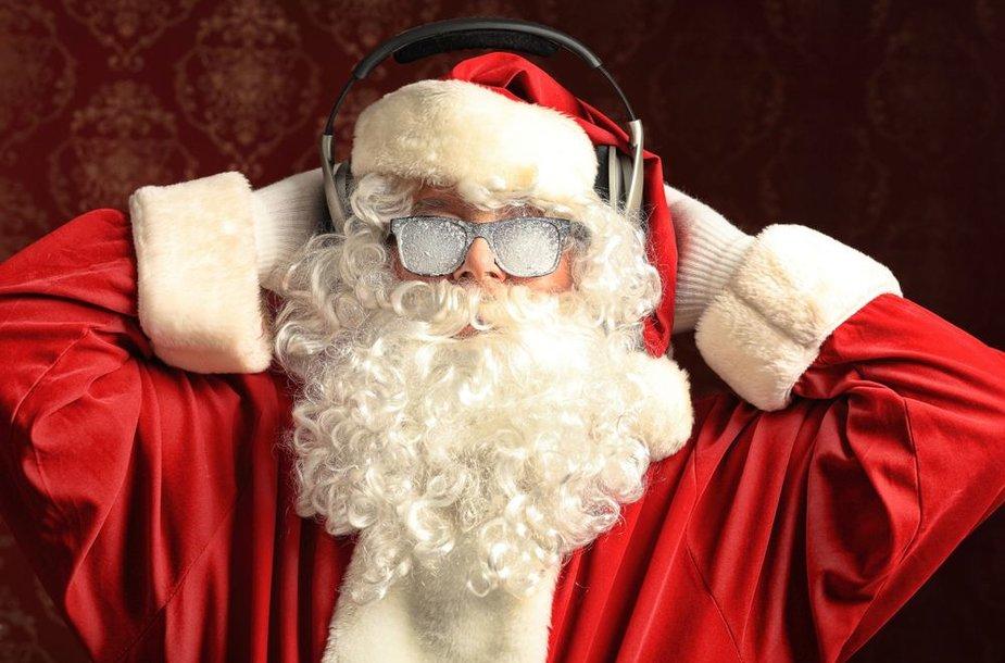 Apšalęs nuo muzikos Kalėdų Senis