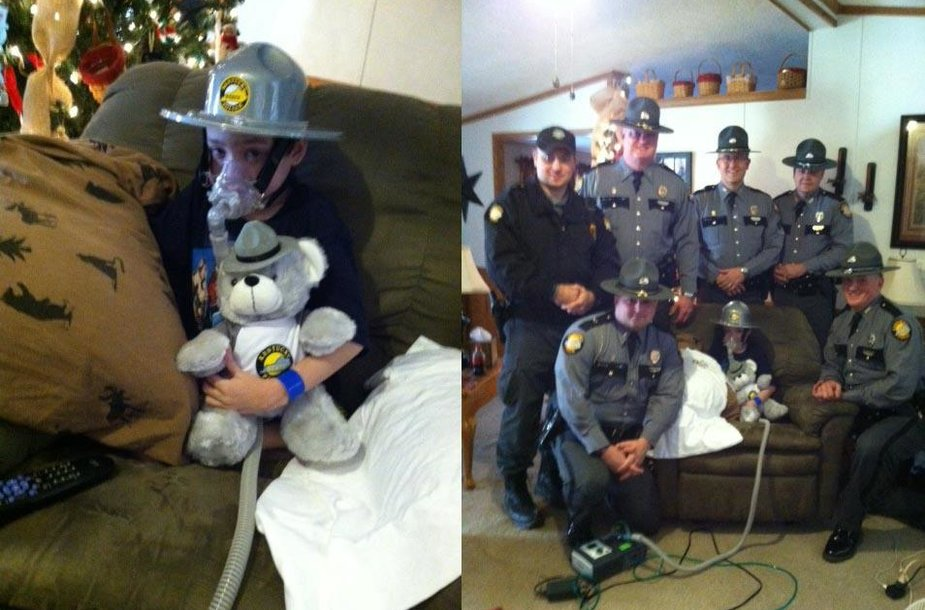 Kentukio policininkai lanko Daltoną