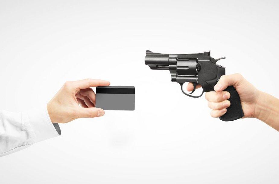 Respublikonai tvirtina, kad banko kortelės gali būti tiek pat pavojingos kiek šautuvai