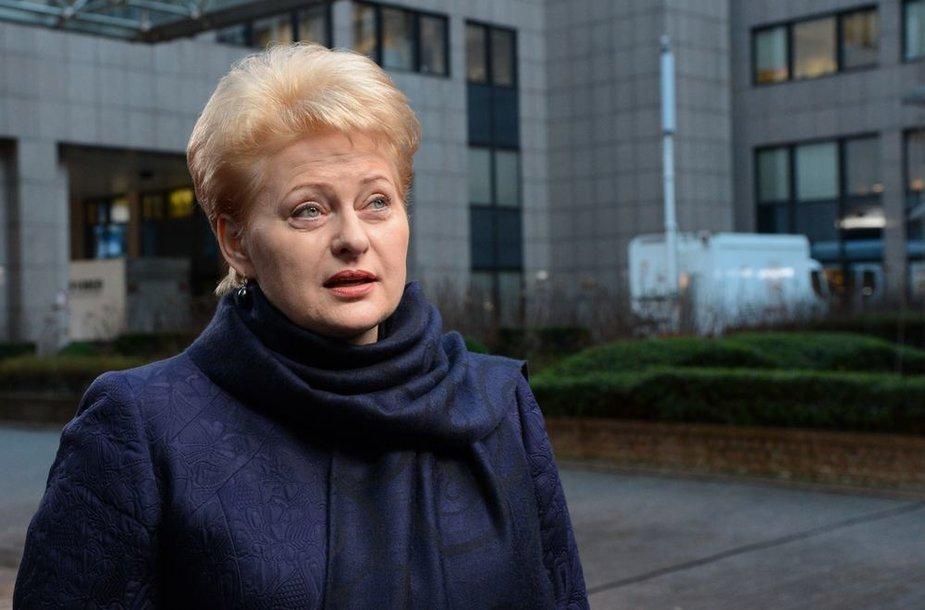 Dalia Grybauskaitė Briuselyje
