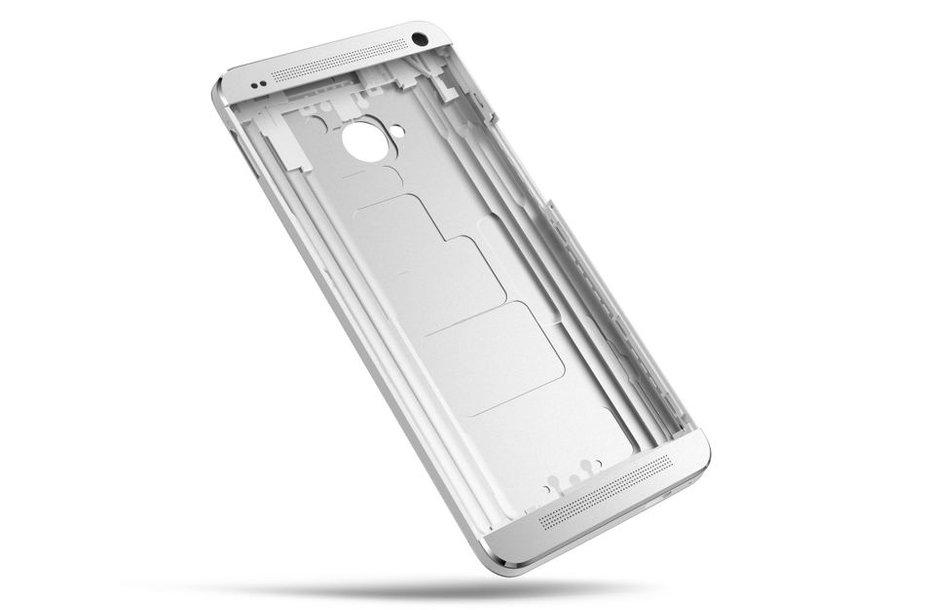 """Metalinis """"HTC One"""" išmaniojo telefono korpusas"""