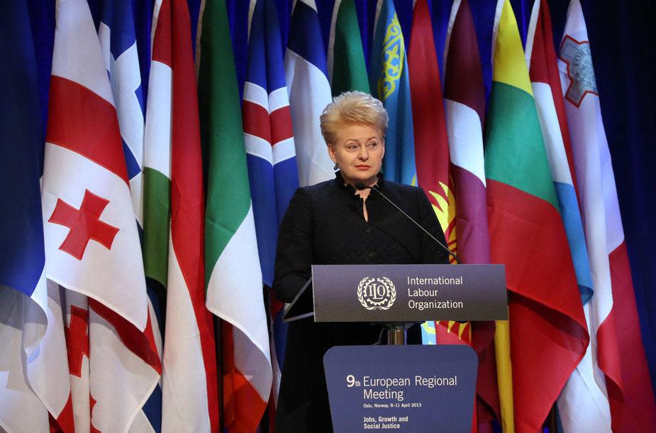 Dalia Grybauskaitė Norvegijoje