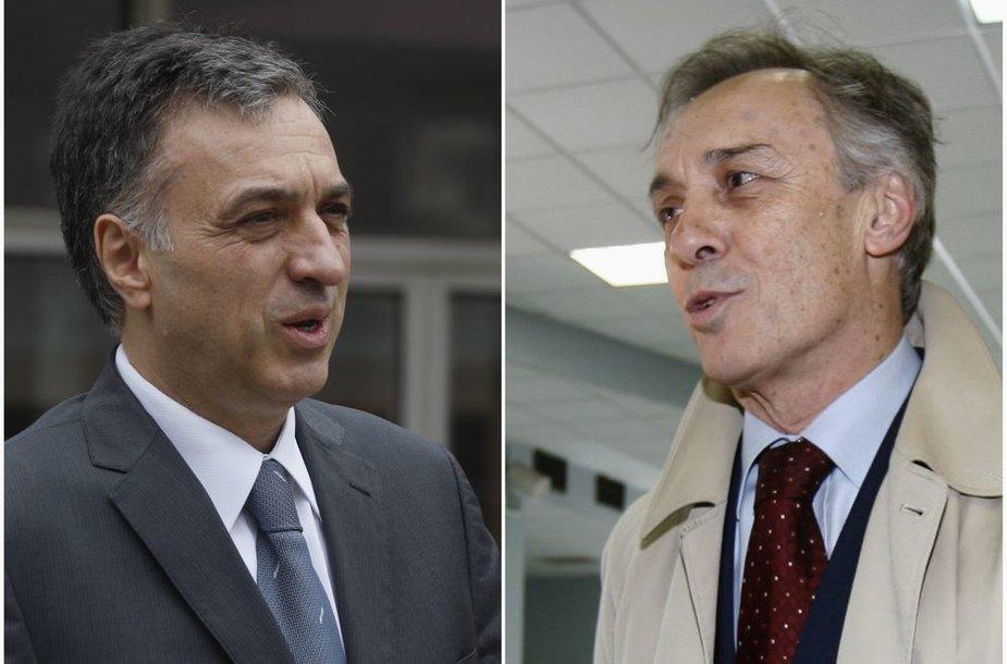 Filipas Vujanovičius ir Miodragas Lekičius
