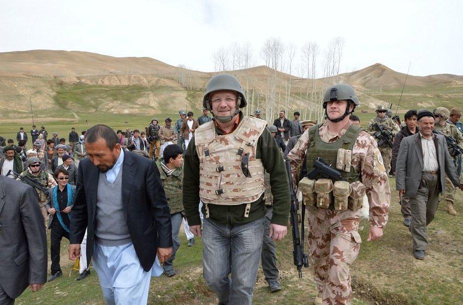 Juozo Oleko vizitas Afganistane