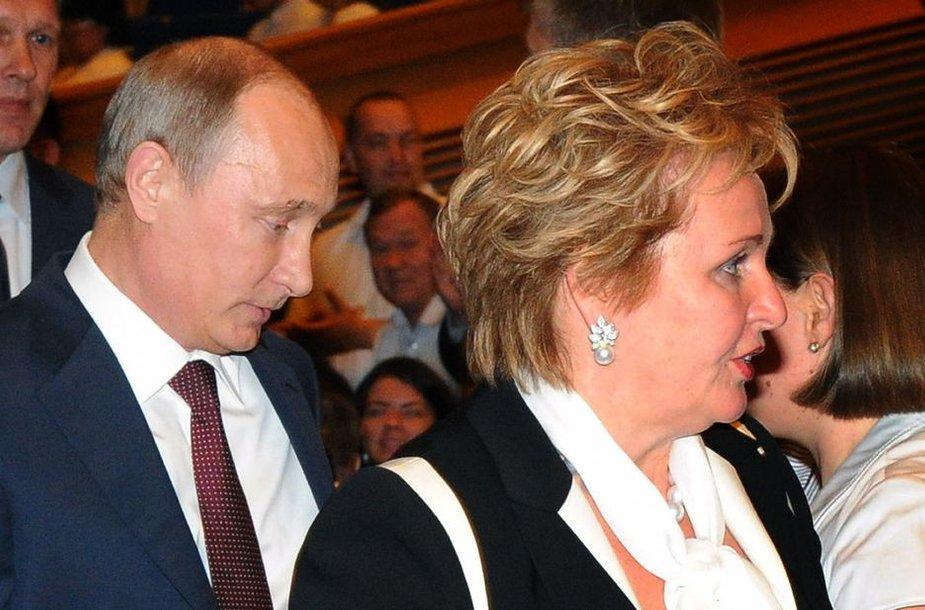 Vladimiras Putinas su žmona Liudmila