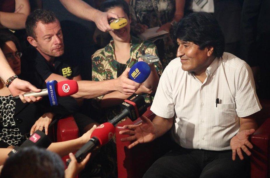 Bolivijos prezidentas Evo Moralesas