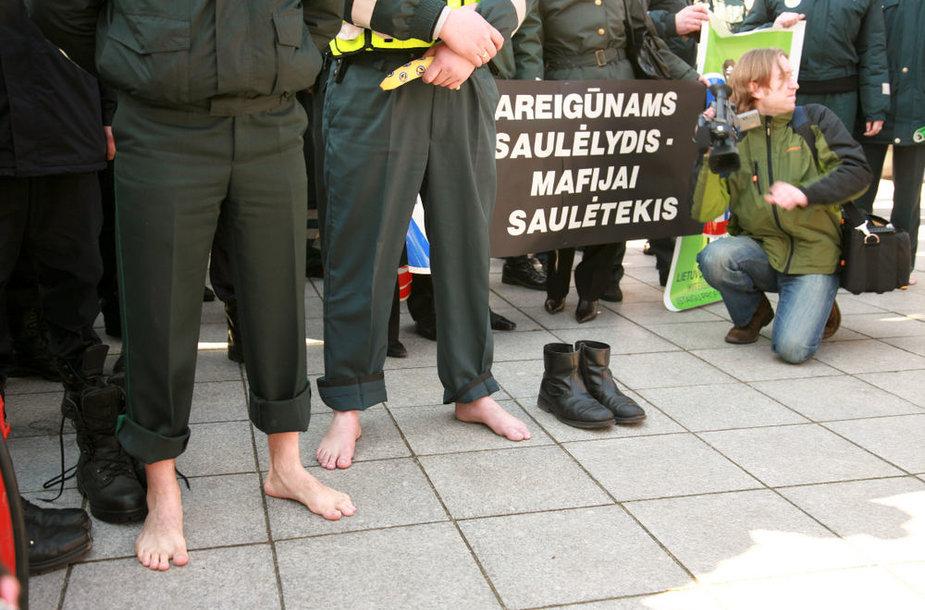 Pareigūnų protesto akcija