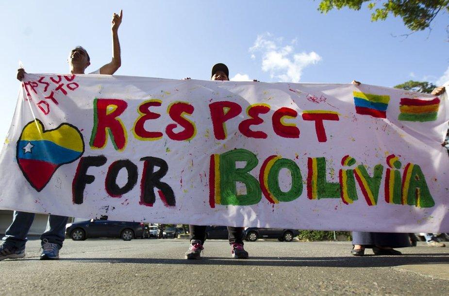 Evo Moraleso šalininkai