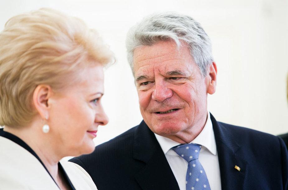 Joachimas Gauckas ir Dalia Grybauskaitė