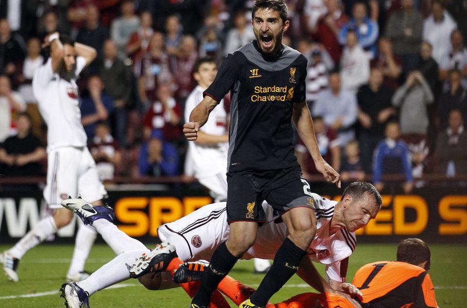 """F.Borini po džiaugiasi """"Liverpool"""" įvarčiu"""