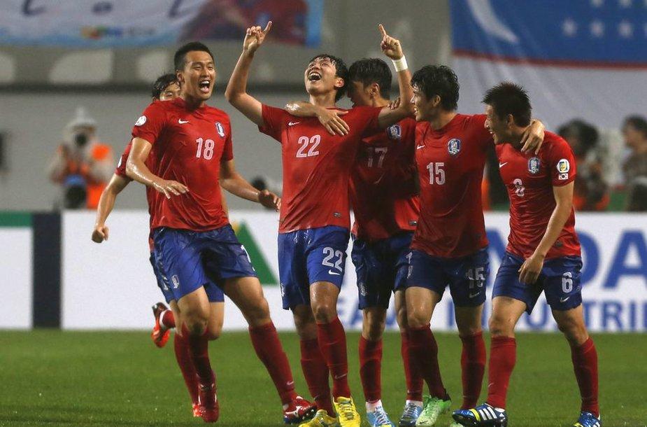 Pietų Korėjos futbolininkai.
