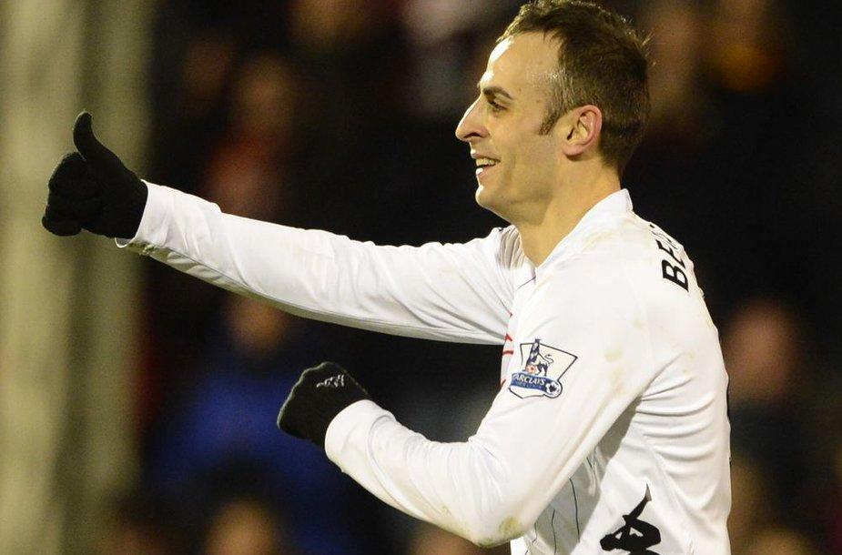 """Didžiausia """"Fulham"""" žvaigždė – Dimitaras Berbatovas."""