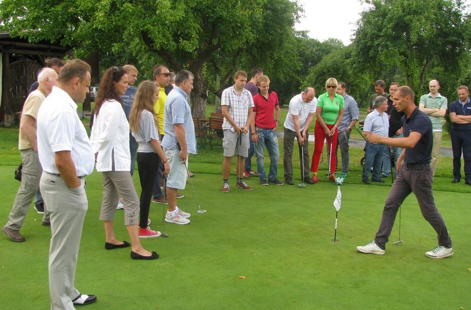 LSŽF nariai golfo aikštyne
