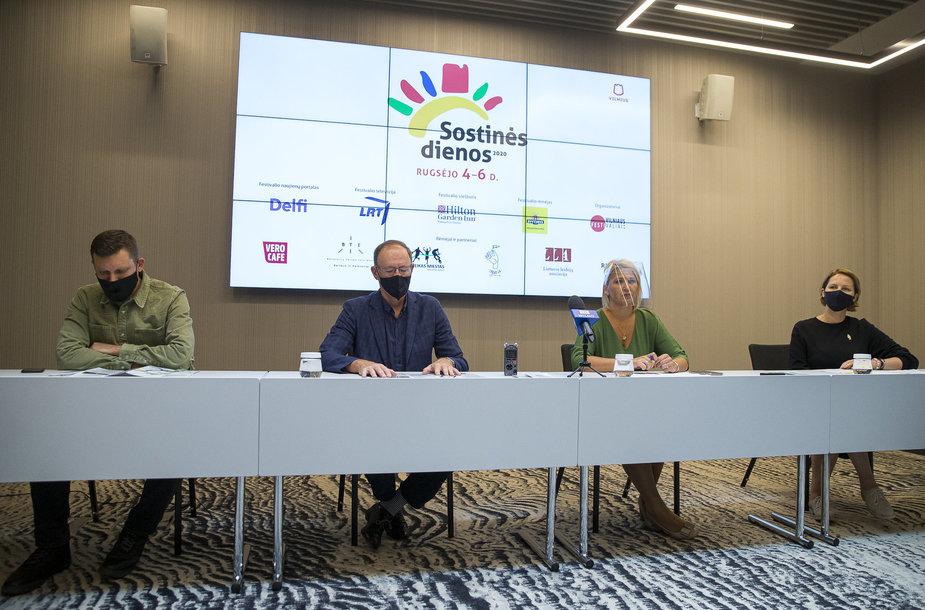 Festivalio SOSTINĖS DIENOS 2020 spaudos konferencija